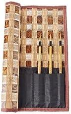 筆巻き MeRaPhy 筆入れ 書道 習字 竹 高級天然竹 使用 毛筆用 や 絵画用 にも11本 収納