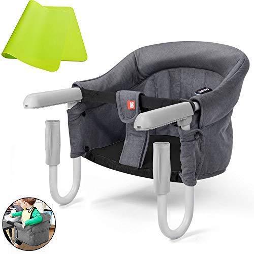 テーブルチェア ベビーチェア & シリコンマット (FeelGlad)ベビーチェア 子供 お食事椅子 折りたたみ 簡単に取り付け