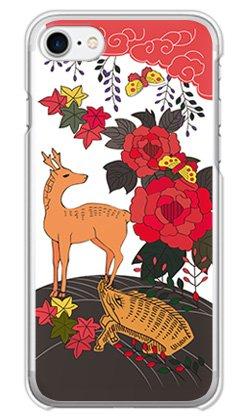 ガールズネオ apple iPhone7/iPhone8 ケース (お花/花札《猪鹿蝶》) Apple iPhone7-PC-COM-1016