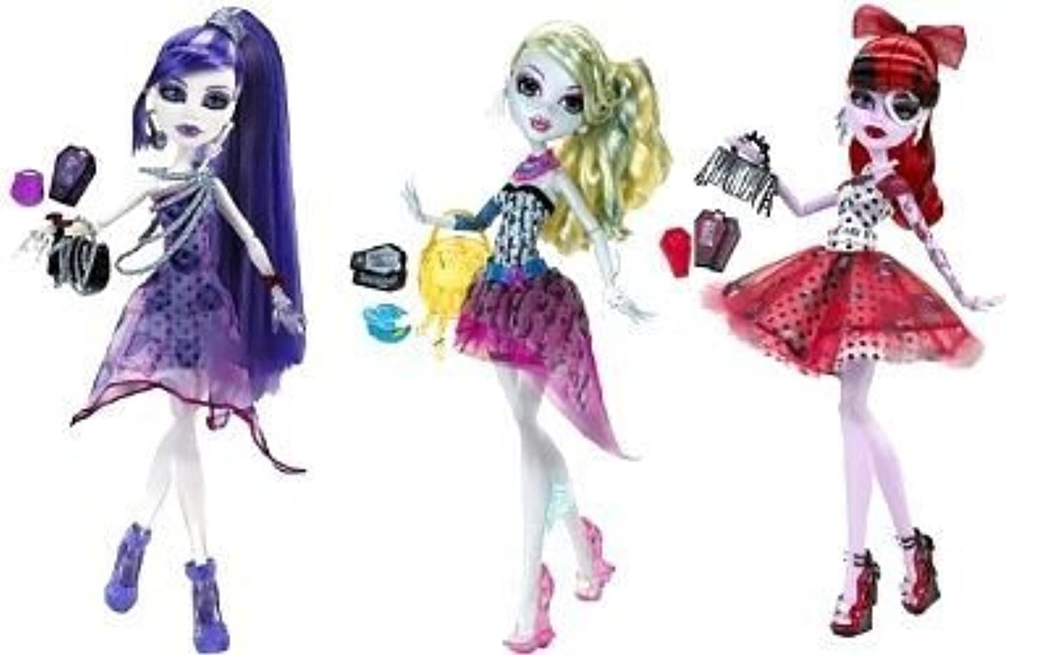 Monster High Dot Dead Gorgeous Set of 3: Lagoona, Spectra,& Operetta
