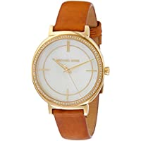 Michael Kors Women's Quartz Watch, Analog Display and Leather Strap MK2712