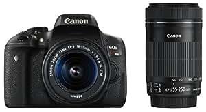 Canon デジタル一眼レフカメラ EOS Kiss X8i ダブルズームキット EF-S18-55mm/EF-S55-250mm 付属 EOSKISSX8I-WKIT