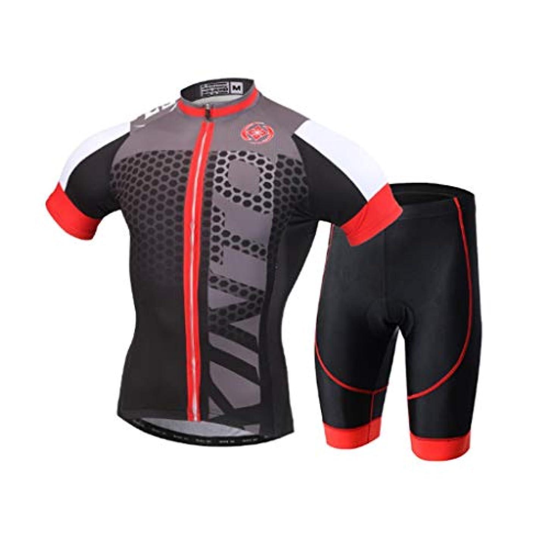手首品種受け皿自転車バイキングアウトドアスポーツウェア半袖シャツパンツ自転車メンズアウトドアスポーツスーツ (Size : XL)