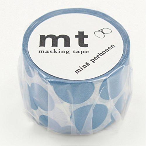 マスキングテープ mt ミナペルホネン soda water・blue 35mm×10m MTMINA30