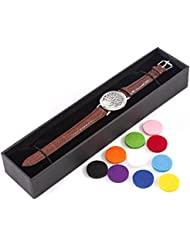 Mystic Moments   Tree of Life   Aromatherapy Oil Diffuser Bracelet with Adjustable Brown Leather Strap