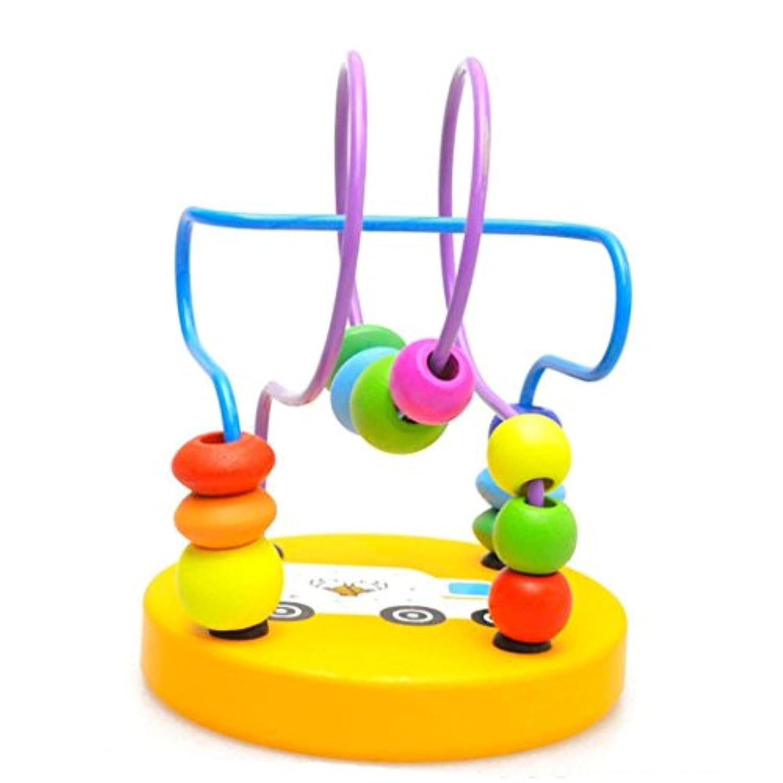 Morecomeベビーキッズ教育木製周りビーズ建物ブロックおもちゃ幼児インテリジェンスおもちゃ free size Morecome