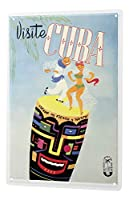 Tin Sign ブリキ看板 World Trip Cuba Celebrate couple dancing Decorative Wall Plate