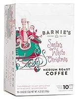 Barnie's Coffee & Tea Santa's White Christmas Single Serve Coffee, K Cups for Keurig Brewers, Medium Roast, Arabica Coffee Beans, 10 Single Serve Cups