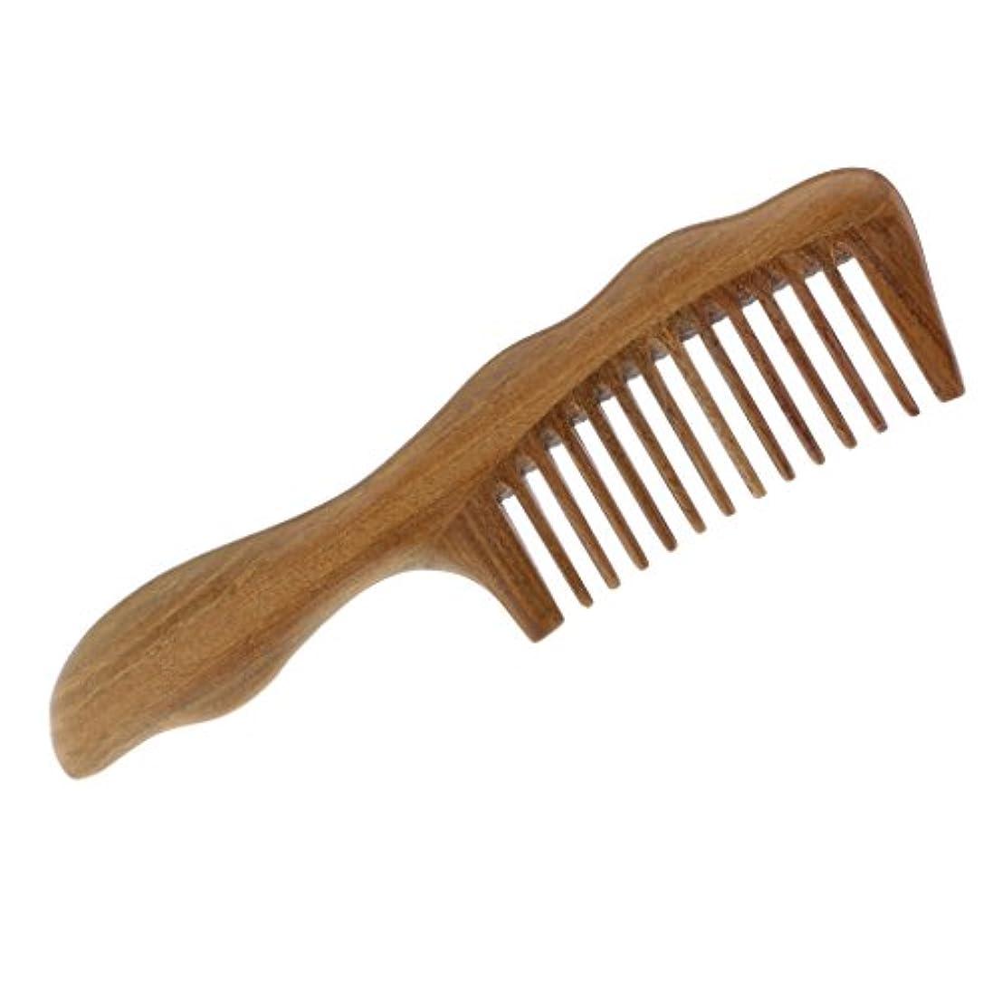 地球万歳フリルToygogo 広い歯の櫛の木製のもつれの櫛、木製の毛のブラシ/Sandalwoodの非静的な木の櫛
