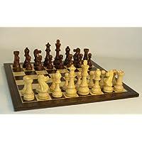 WW Chess Jumbo Staunton On Ebony Veneer Chess Board