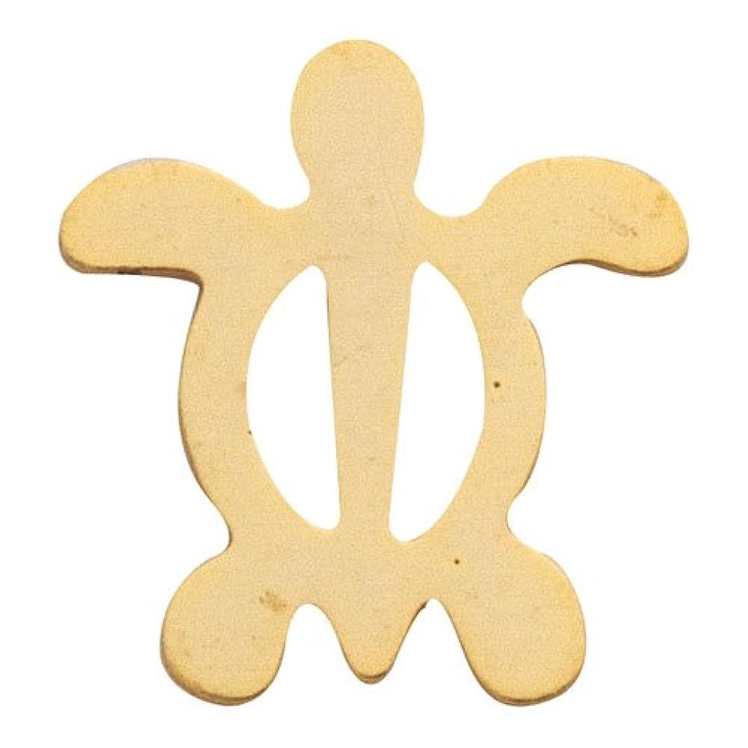 彫刻ぶどう自発的リトルプリティー ネイルアートパーツ ホヌ M ゴールド 10個