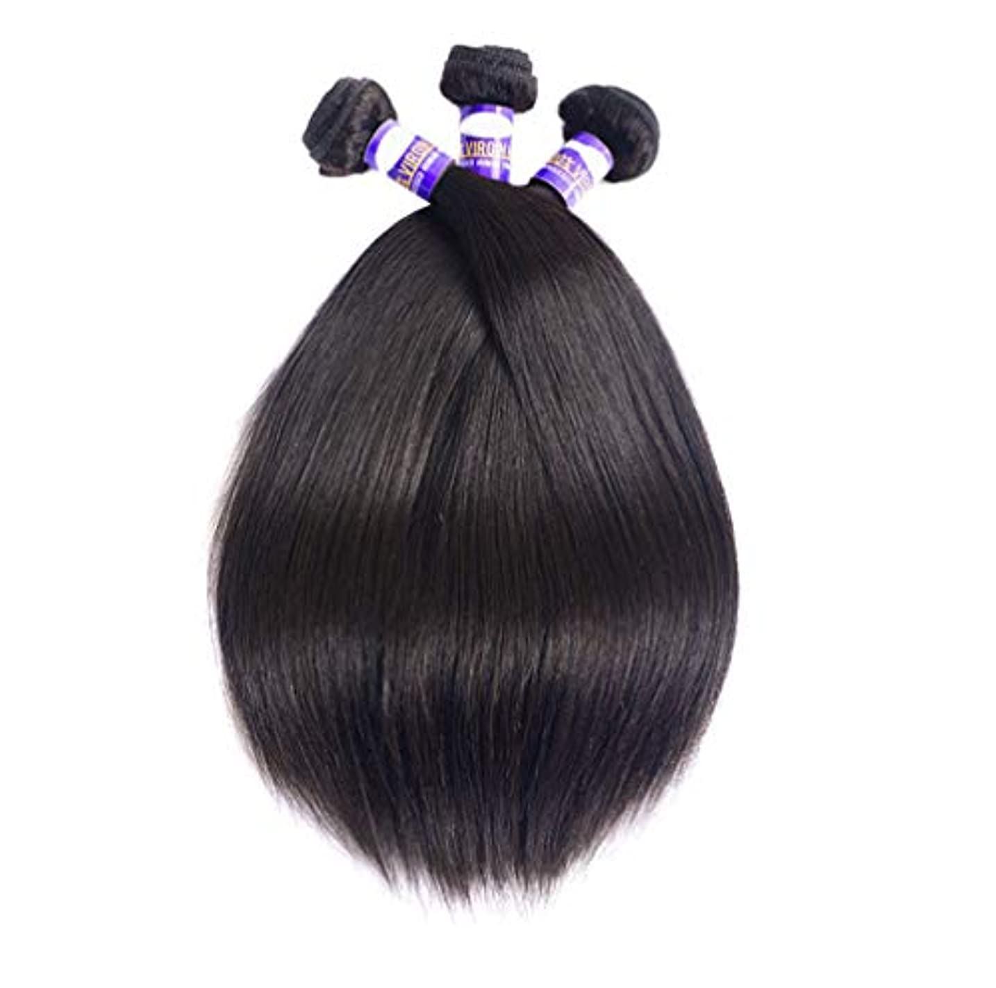 パンサークライマックス書道女性ブラジル髪織り髪束ストレートフリーパーツ未処理ブラジルストレート髪バンドル8Aストレート人間の髪の束(3バンドル)