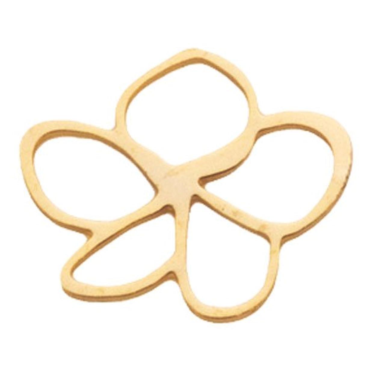 指紋ダーベビルのテスタクシーリトルプリティー ネイルアートパーツ プルメリア M ゴールド 10個