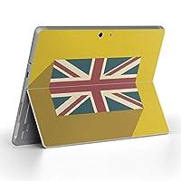 Surface go 専用スキンシール サーフェス go ノートブック ノートパソコン カバー ケース フィルム ステッカー アクセサリー 保護 イギリス 国旗 黄色 012521