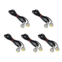 VORCOOL 10pcs Universal Waterproof 18mm Eagle Eye LED Lights Car Motor DRL Backup Lights Bulbs (White Light) [並行輸入品]
