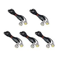 VORCOOL 10pcs Universal Waterproof 18mm Eagle Eye LED Lights Car Motor DRL Backup Lights Bulbs (White Light) [並行輸入品]