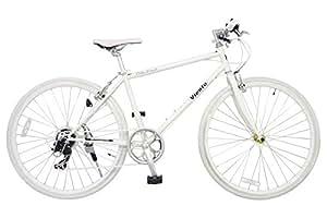 ANIMATO(アニマート) クロスバイク VIENTO(ヴィエント) 700C ホワイト シマノ7段変速 A-1