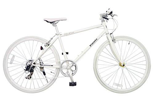 RoomClip商品情報 - ANIMATO(アニマート) クロスバイク VIENTO(ヴィエント) 700C ホワイト シマノ7段変速 A-1
