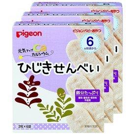 ピジョン ベビーおやつ 元気アップカルシウム ひじきせんべい 3箱セット(1箱6袋入り)