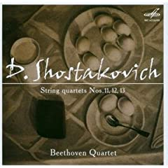 ベートーヴェンSQ演奏 ショスタコーヴィチ:弦楽四重奏曲11,12,13の商品写真