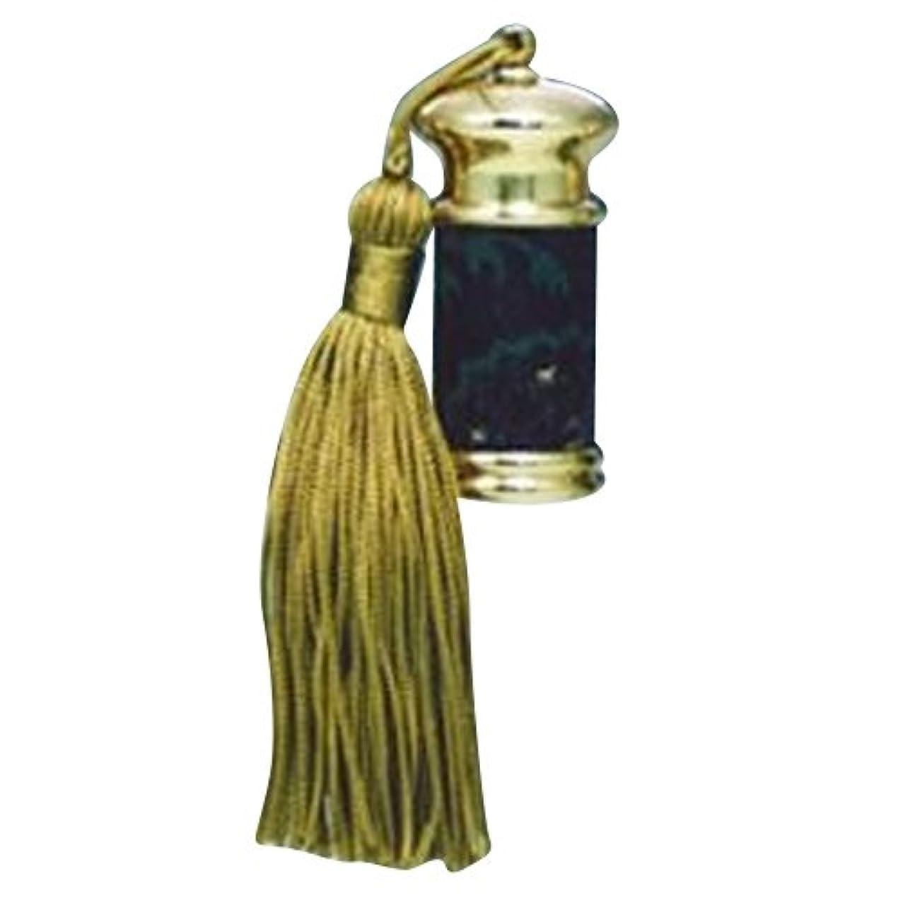 晴れ半球木製ヒロセアトマイザー エスニック レザー ボトル (真鍮 革巻き) 23012 BK (ブラック)