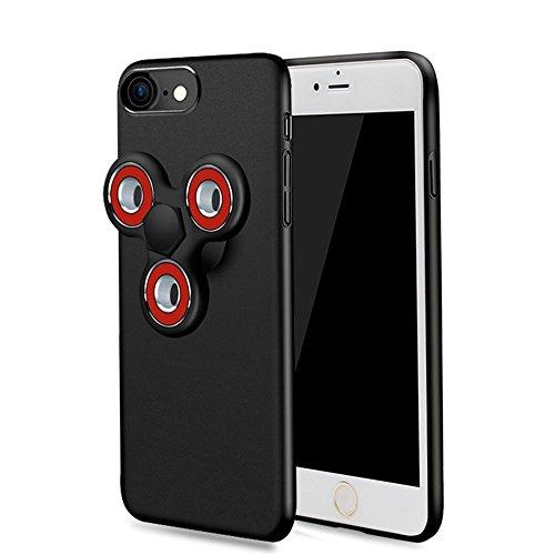 iphone7 ケース iphone7カバー おしゃれ 人気 iphone7 フルカバーケース 耐衝撃 7 ケース iphone7保護カバー ハンドスピナー付きiPhoneケース アイフォン 7 用 アップルアイフォン7 ブラック