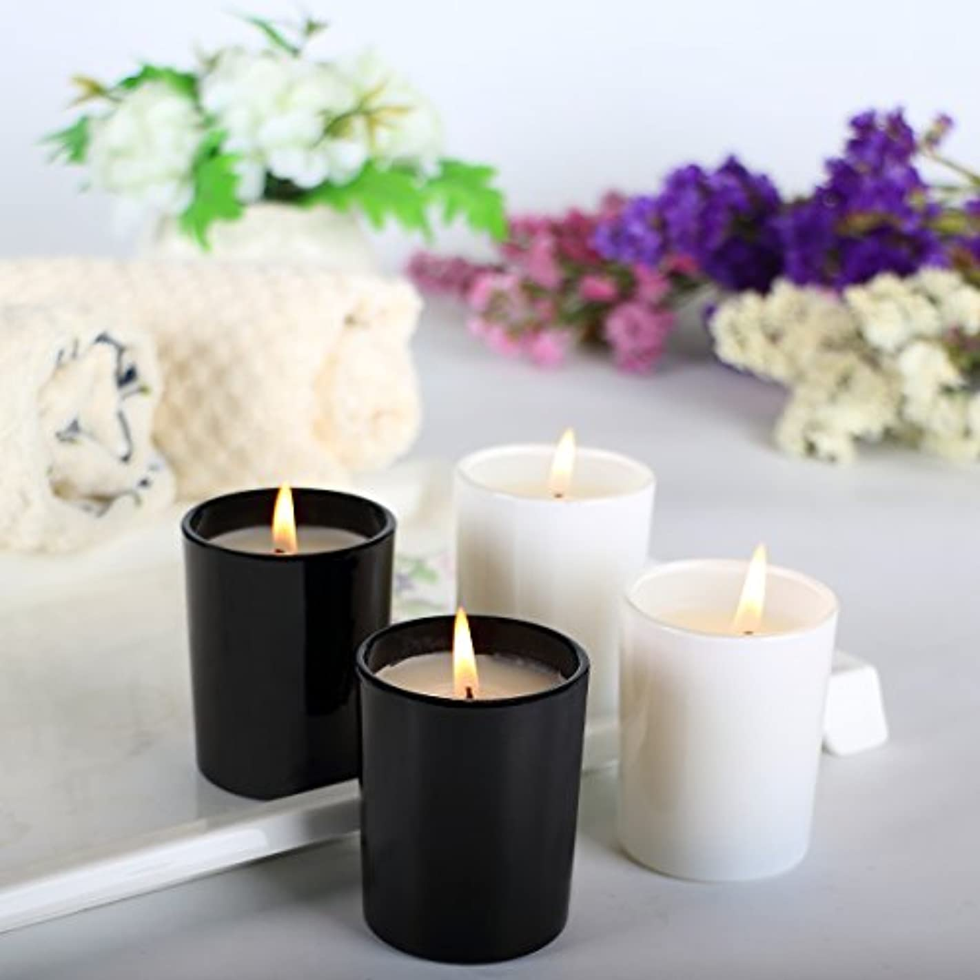 (4 70ml) - Scented Candle, Pack 4 Candles - Includes Gardenia, Lemongrass, Pine, Vanilla Soy Candles for Stress...
