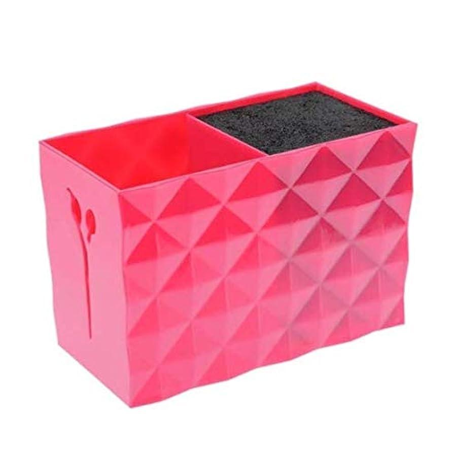 シートハリウッド家禽Livemarket プロのアクセサリー非スリップソケット髪シザー櫛ポットスタンドケーススタイリングサロンヘアクリップ人気の収納ボックス (レッド)