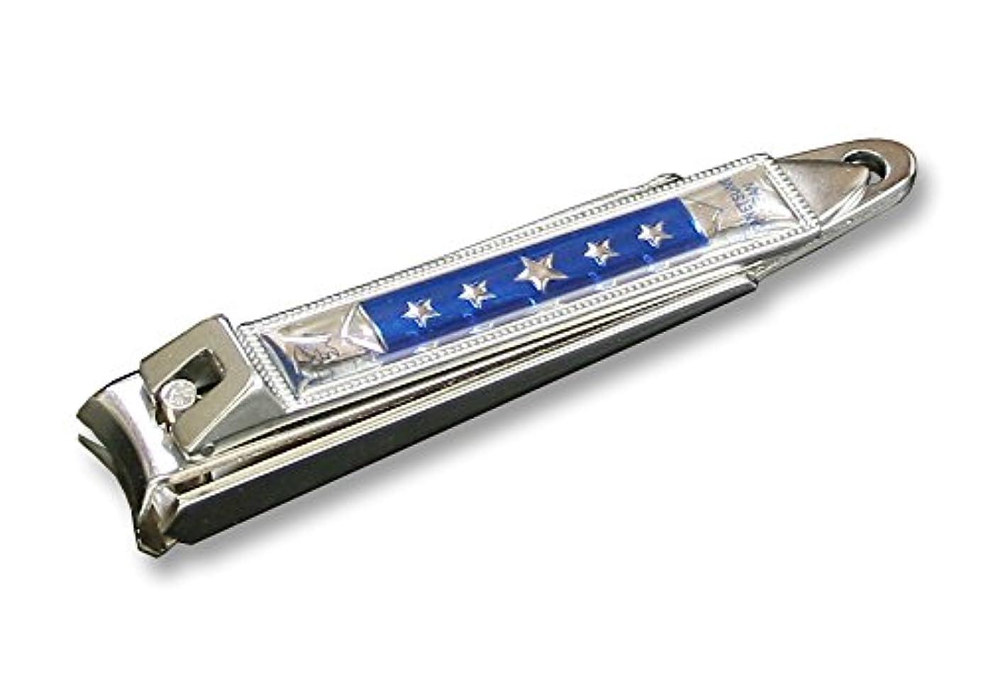 ラバ毒性無限大KC-050BL 関の刃物 関兼常 チラーヌ爪切 大 青