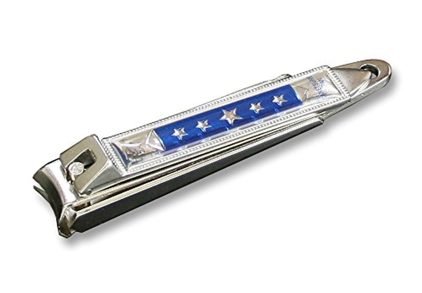 関連付ける大量シャーKC-050BL 関の刃物 関兼常 チラーヌ爪切 大 青