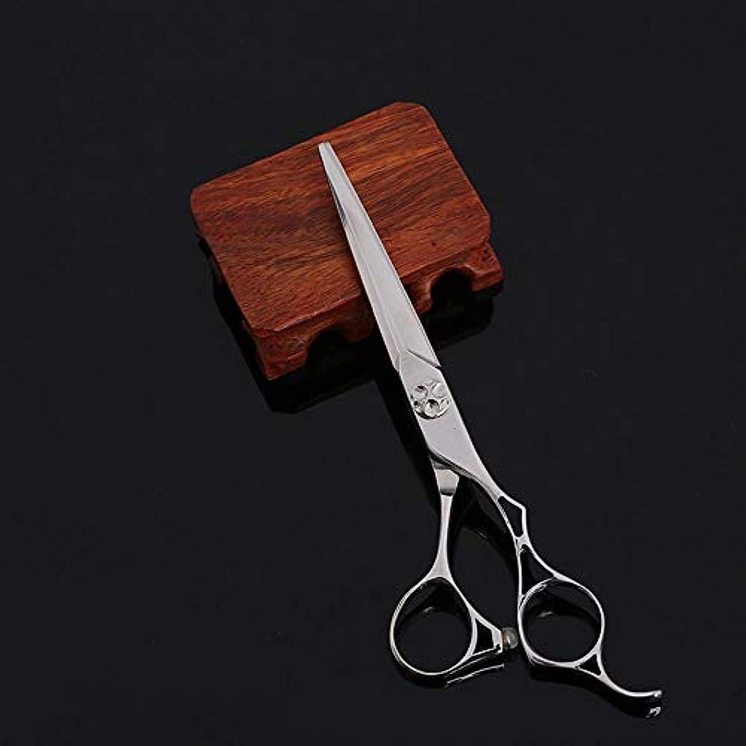 ジェスチャー言う地平線Goodsok-jp 6インチの美容院の専門の美容院の上限の理髪はさみの平らなせん断 (色 : Silver)
