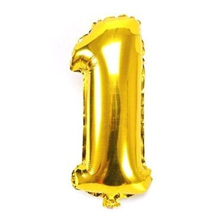 ちょうど良い大きさ 数字バルーン ゴールド 誕生日 ウェディング パーティーに (1)