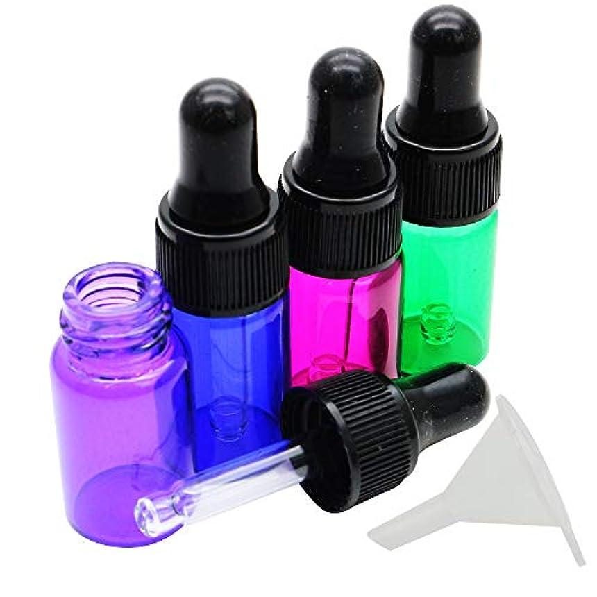 ワークショップモードブレンドchibiclover スポイト付 ガラス ボトル 3ml 4本セット 香水 小分け 遮光瓶 カラフル