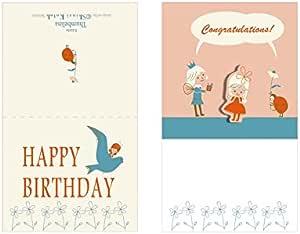 Shinzi Katoh シンジカトウ グリーティングカード 飛び出す仕掛け付き Happy Birthday (GC1-47 happy birthday)
