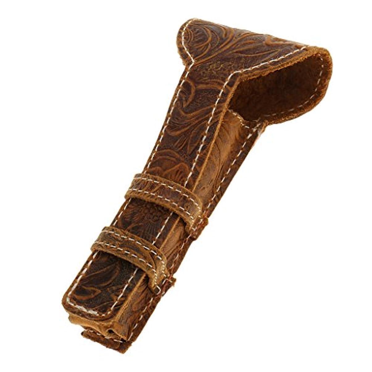 透けて見える舌な肺Baosity カミソリケース 剃刀ケース 高品質 レザー製 両刃カミソリ対応 カミソリ収納ケース