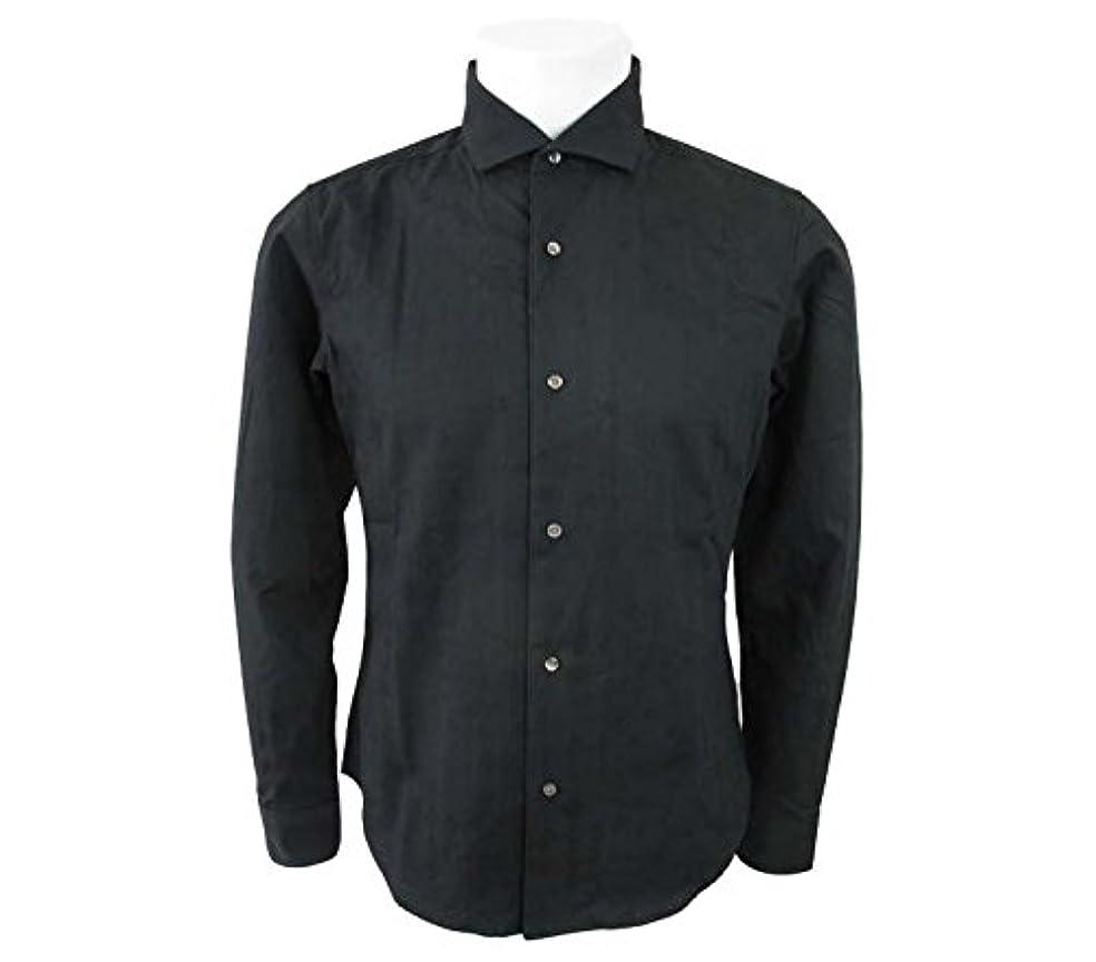 後悔タイピスト電気技師(テットオム)TETE HOMME バンダナ柄 ジャガード長袖シャツ ブラック Mサイズ