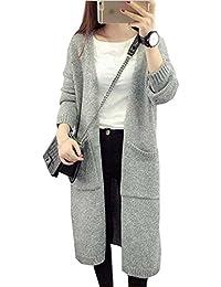 d89c9268e5245 ドウゲイ)TongYiレディース セーター ジャケット 長袖 秋冬 カーディガン ニット ロング ...