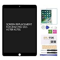 """SRJTEK For Apple iPad Pro 10.5"""" A1701 A1709 修理用 液晶パネル ディスプレイスクリーン タッチパネル Includes ICチップ 修理パーツ 修理工具付き"""