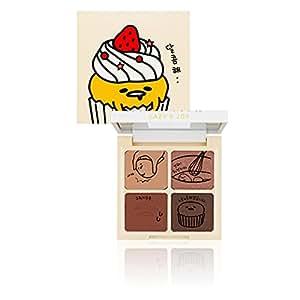 (ホリカホリカxぐでたま) HOLIKA HOLIKA ぐでたま LAZY&JOYシリーズ カップケーキ アイシャドウ 2タイプ アイシャドウパレット Cupcake Eye Palette Shadow マット/シマー/グリッタータイプ アイメイク メイクアップ 韓国コスメ (01. レッドベルベット) [並行輸入品]