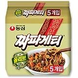 韓チャパゲティ 5袋 韓国ラーメン 韓国風ジャージャー麺