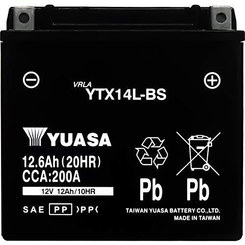 YUASA 台湾 ユアサ バイク用 バッテリー 液入り 充電済み (YTX14L-BS)