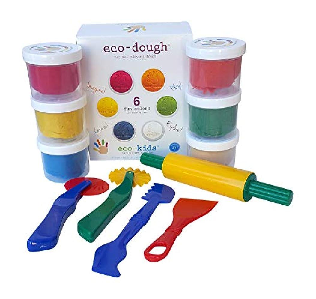 自然再生Dough 6明るい色でwith Sturdy 5 Pieceクレイツールセット