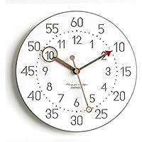 クロック 柱時計 壁掛け 掛け時計 リズム時計 連続秒針 静音 簡約 面白い 無騒音 スイープムーブメント 子ども部屋 白文字盤 現代 シンプル フック付き 北欧 HIMENO