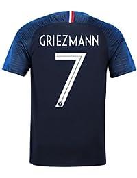 サッカー2018  フランス代表 ユニフォーム 上下セット Griezmann 背番号7 Griezmann 子供用 (子供XL,Griezmann) (XL)
