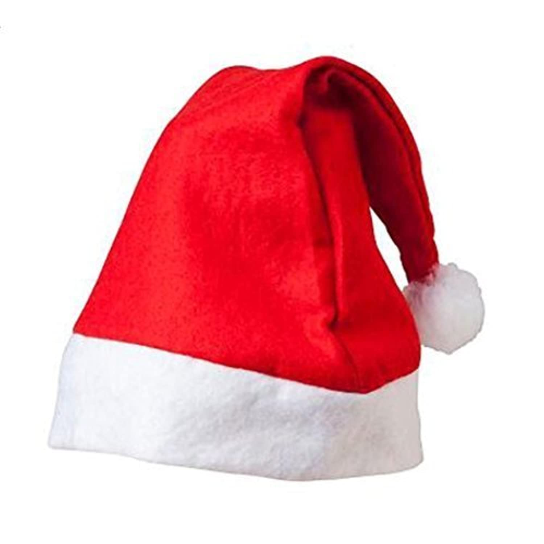 クリスマスのサンタクロースの赤い白党キャップ帽子子供は大人のための装飾