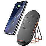 Qi ワイヤレス充電器 急速 Wofalo 有線も対応 7.5W 2IN1 iPhone 8/8 Plus/X/Galaxy S9/S9 Plus/Note 8/S8/S8+/S7/S6 Edge+/Note5 充電速度抜群 USB 2.0 3.0 二つ付き