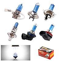[1個の電球] H1 H3 H4 H7 H8 H9 H11 HB3 HB4 9006 55W 5000Kスーパーブライトホワイト車のライトハロゲンランプ電球車のスタイリングヘッドライトフォグランプ