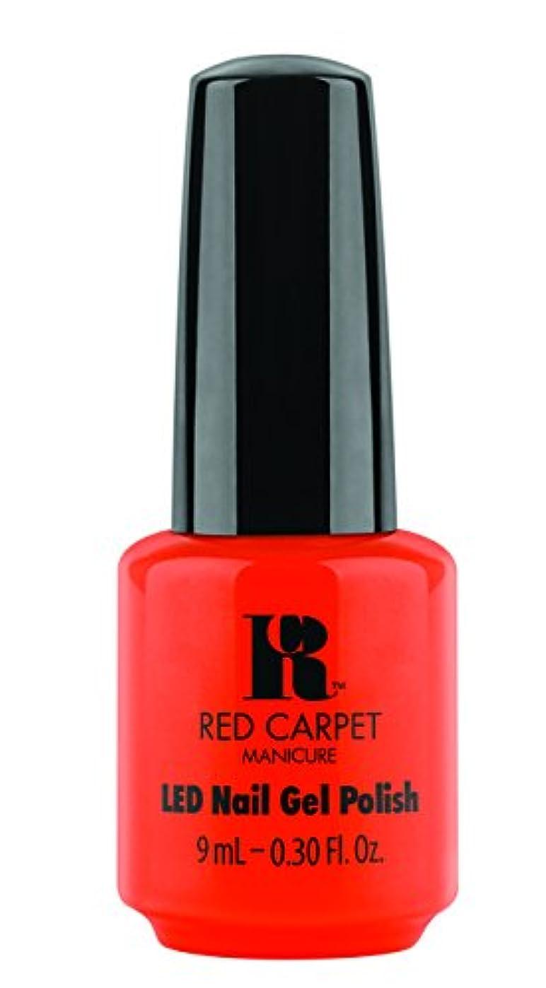 コインリー基本的なRed Carpet Manicure - LED Nail Gel Polish - Tangerine on the Rocks - 0.3oz / 9ml