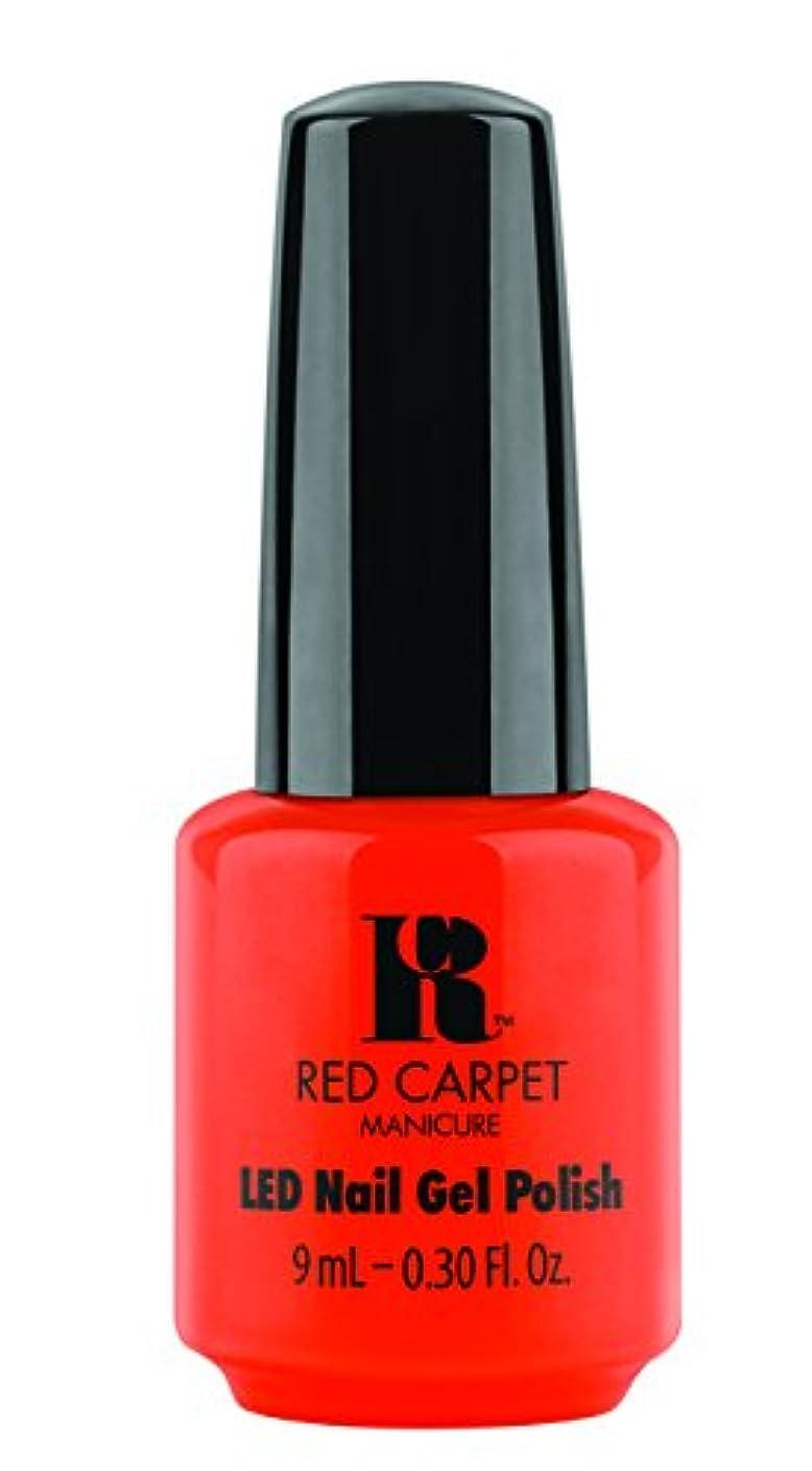 アウター通信するかすかなRed Carpet Manicure - LED Nail Gel Polish - Tangerine on the Rocks - 0.3oz / 9ml