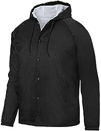 Augusta Sportswearメンズフード付きコーチのジャケット